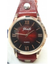 Женские часы Jbaili Aimecor Бордовый ремешок