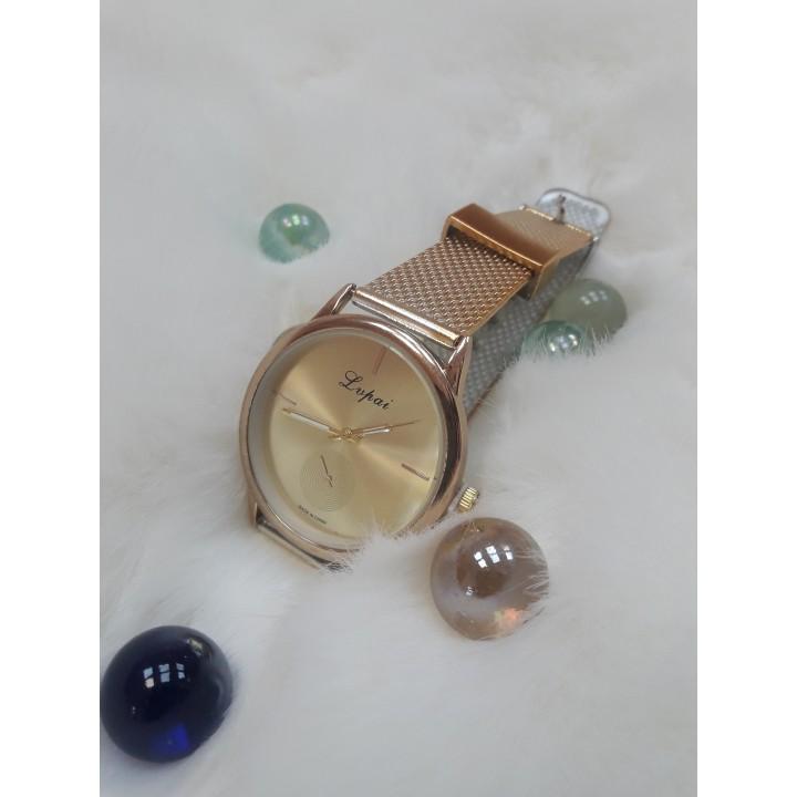 Купить Женские часы LVPAI Золотистый кольчужный ремешок