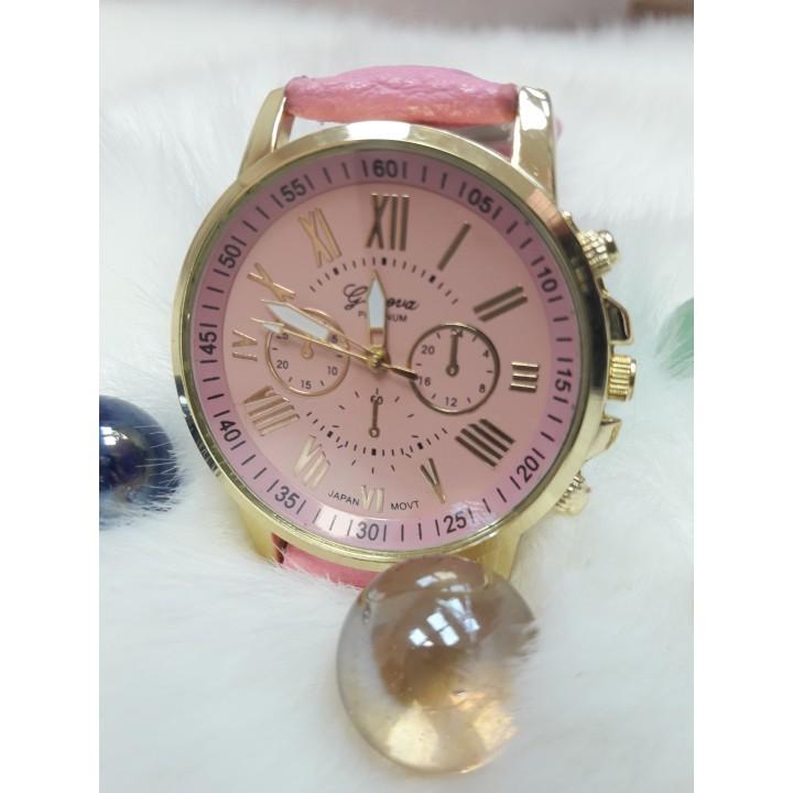 Купить Женские часы Geneva Duobla Розовый ремешок