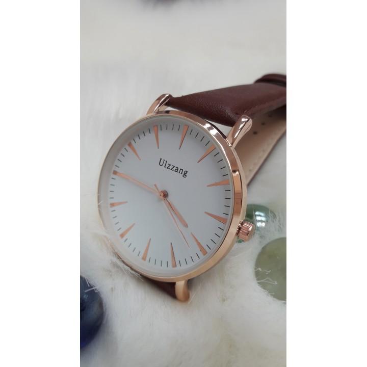 Купить Женские часы Ulzzang Коричневый ремешок