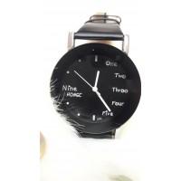 Женские часы Nine Hongc Черный ремешок
