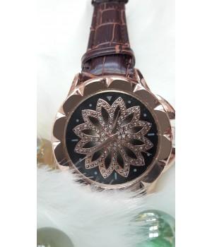 Женские часы Jbali Yazole Коричневый ремешок