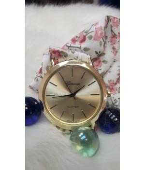 Жіночі годинники Geneva Duobla Квітковий рожевий принт