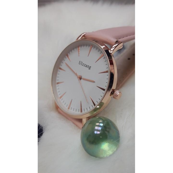 Купить Женские часы Ulzzang Пудровый ремешок
