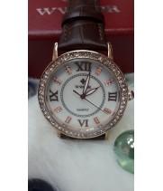 Женские часы Wwoor Коричневый  ремешок