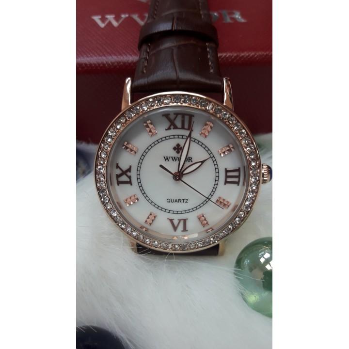 Купить Женские часы Wwoor Коричневый  ремешок