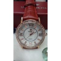 Женские часы Wwoor Красный  ремешок