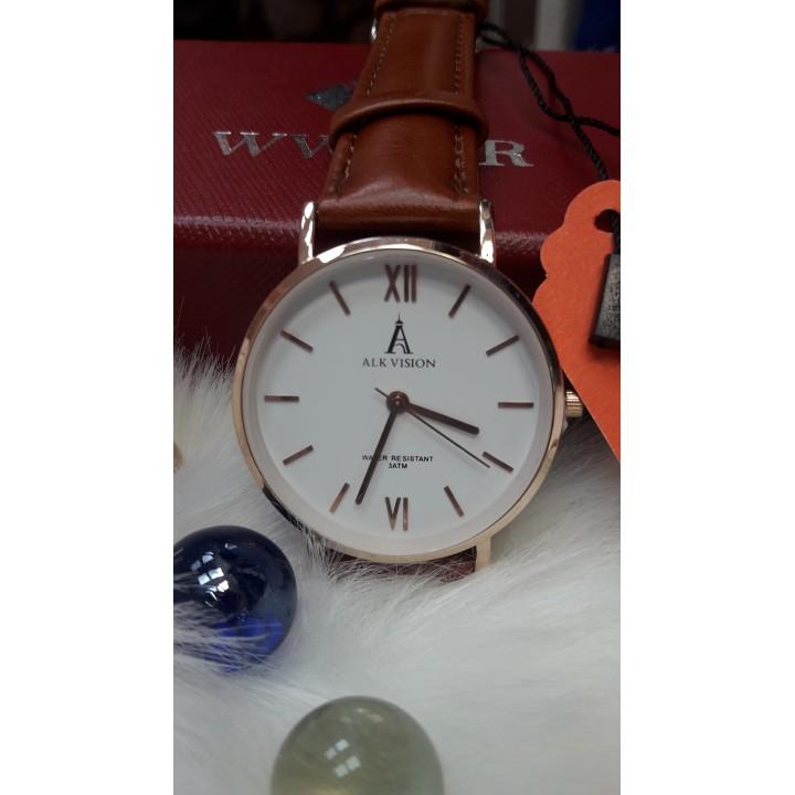 Купить Женские часы Alk Vision Коричневый  ремешок