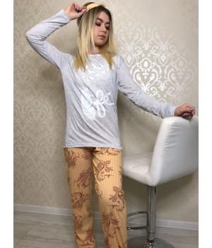 Пижама женская Турция трикотаж Lila S,M,L,XL,2XL,3X