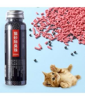 Дезодорант наполнитель и нейтрализатор запаха для кошачьего туалета.  Шарики с силикагелем, сепиолитом и активированным углем.