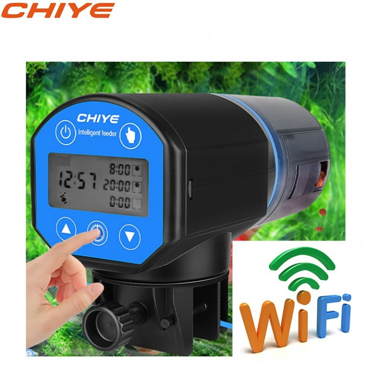 Купить кормушку для аквариума автоматическую CHIYE CY-059DW с LCD-монитором, WIFI.