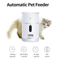Годівниця для кішок і собак автоматична ELS-PET F001 з відеокамерою, 4,0 л. WiFi, Біла