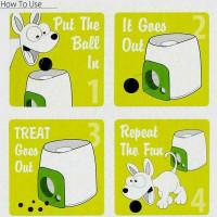 Интерактивная обучающая игрушка метатель мячей с кормлением для собак Paws-3206