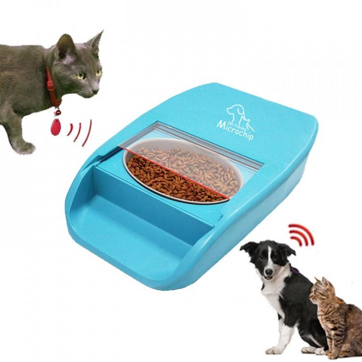 Годівниця для кішок і собак автоматична c мікрочіпом Microchip Pet Feeder JMQ-335 Plus, 500мл.