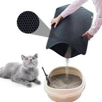 Килимок для котячого туалету, лотка, двошаровий