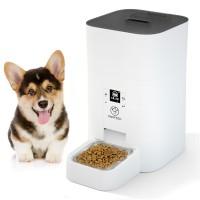 Автоматическая кормушка для кошек и собак Papifeed PF007, 4,5л.  Белая