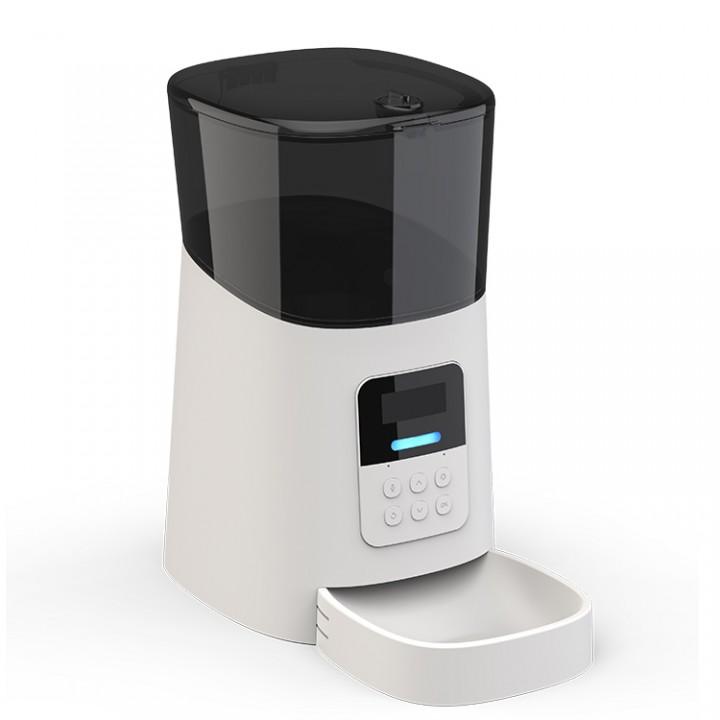 Автоматическая кормушка для кошек и собак Petrust PP004, 6л.  Белая