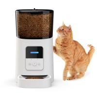 Автоматическая кормушка для кошек и собак Petrust PP005, 6л. WiFi, Белая