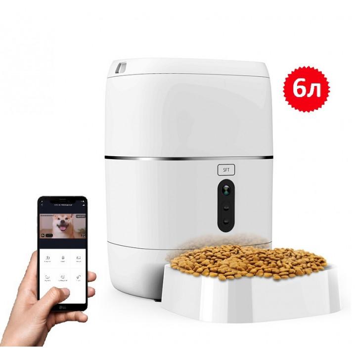 Годівниця для кішок і собак автоматична CHINAPST FD-BL3-С, 6л. WiFi з відеокамерою.