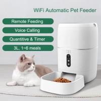 Автоматическая кормушка для кошек и собак CHINAPST FD-BL3-С, 6л. WiFi с видеокамерой, Белая