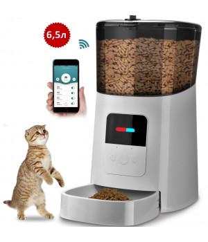 Кормушка для кошек и собак автоматическая YXPET YX-05 Feeder, 6,5л. WiFi, Белая